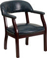 Navy Vinyl Luxurious Conference Chair , #FF-0471-14