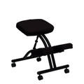 Mobile Ergonomic Kneeling Chair in Black Fabric , #FF-0429-14