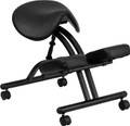 Ergonomic Kneeling Chair with Black Saddle Seat , #FF-0430-14