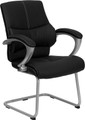Black Leather Executive Side Chair , #FF-0449-14