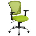 Mid-Back Green Mesh Office Chair with Chrome Finished Base , #FF-0069-14