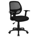 Mid-Back Black Mesh Computer Chair , #FF-0010-14