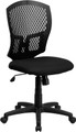 Mid-Back Designer Back Task Chair with Padded Fabric Seat , #FF-0236-14