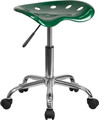 Vibrant Green Tractor Seat and Chrome Stool , #FF-0491-14
