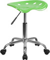 Vibrant Apple Green Tractor Seat and Chrome Stool , #FF-0492-14