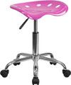 Vibrant Candy Heart Tractor Seat and Chrome Stool , #FF-0496-14
