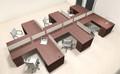 Six Person L Shaped Modern Divider Office Workstation Desk Set, #CH-AMB-SP41