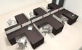 Six Person L Shaped Modern Divider Office Workstation Desk Set, #CH-AMB-SP42
