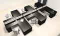 Six Person L Shaped Modern Divider Office Workstation Desk Set, #CH-AMB-SP43