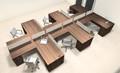 Six Person L Shaped Modern Divider Office Workstation Desk Set, #CH-AMB-SP44