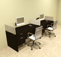 Two Person Divider Modern Office Workstation Desk Set, #OT-SUL-SP24