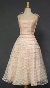 Charming Lace Cocktail Dress w/ Satin Bands