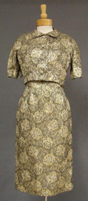 Nice Brocade 1960's Cocktail Dress w/ Matching Jacket 38