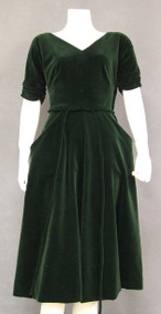 Hunter Velveteen 1950's Cocktail Dress