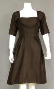 Charming Chocolate 1960's Cocktail Dress