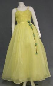 Lovely Lemon Yellow 1960's Prom Gown