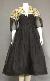 Early 1950's David Hart Organdy Cocktail Dress