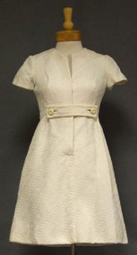 Chic Ivory Brocade Sarmi 1960's Cocktail Dress