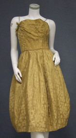 Lovely Harry Keiser Golden Damask Cocktail Dress