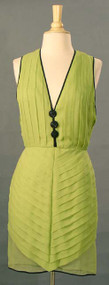 Galanos Lime & Black Cocktail Dress w/ Coccoon Top