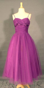 RADIANT Violet Tulle 1950's Prom Dress