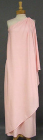 Halston One Shouldered Pink Jersey Goddess Gown