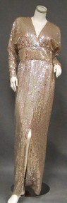 Slinky Estevez Sequined Evening Gown