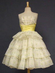 HAIRSPRAY! Early 1960's Yellow & White Party Dress