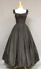 GORGEOUS Will Steinman Black Taffeta 1950's Ball Gown