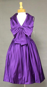 Sarmi Chic Violet Satin 1960's Cocktail Dress 37
