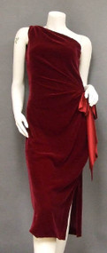 Delicious Crimson Velvet Halston Cocktail Dress