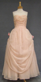 MARVELOUS Pink Chiffon Princess Ball Gown w/ Draped Skirt