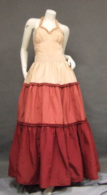 Terrific Tri Toned Taffeta 1940's Evening Gown