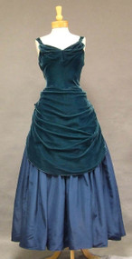 INCREDIBLE Two Toned Velvet & Taffeta Ball Gown