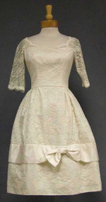 Cahill Ivory Lace 1960's Wedding Dress