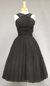 FABULOUS Grecian Chiffon Halter Dress from the 1950's