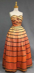 The Coolest Iridescent Taffeta Ball Gown w/ Stripes
