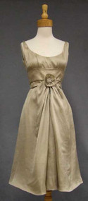 Elegant Hattie Carnegie Beige Silk Cocktail Dress