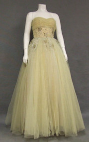 Sensational Sequined Tulle 1950's Ball Gown