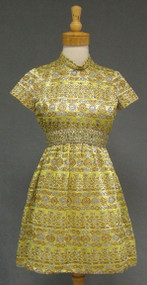 Wonderful Metallic Mini Dress from the 1960's