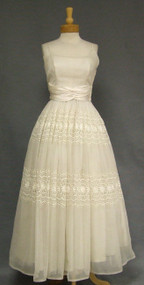 Will Steinman Embroidered Ivory Eyelet Ball Gown
