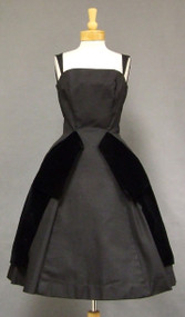 GiGi Young Black Faille & Velvet 1950's Cocktail Dress