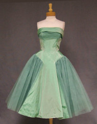 Will Steinman Mint Taffeta & Tulle 1950's Prom Dress