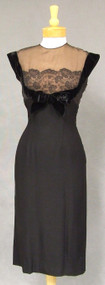 Superb Patullo Jo Copeland Black Crepe Illusion Cocktail Dress