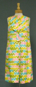 Squiggle Print Sarmi 1960's Day Dress