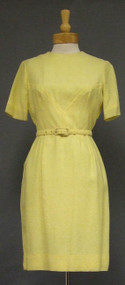 Lemon Yellow 1960's Dress