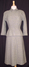 AMAZING Pale Green Sophie Original / Saks Early 1950's Dress w/ Jacket