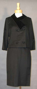 GORGEOUS Don Loper Black Wool & Velvet Suit