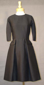 Black Silk Hattie Carnegie Dress