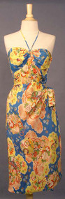 BOMBSHELL Silk Halter Sarong Dress